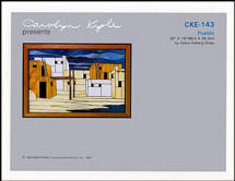 CKE-143 Pueblo (Stained Glass Full Size Patterns)