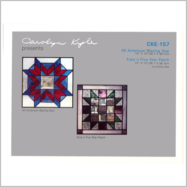CKE-157 All American Star/Katy's five Star Patch (Stained Glass Full Size Patterns)