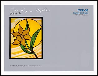 CKE-30 Sunny Daffodil (Stained Glass Full Size Patterns)
